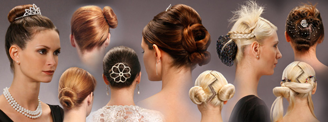 chignon hairstyle. Self-created chignon hairstyle